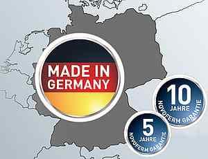 Kvalitet från tyskland med garantitid på 5 och 10 år