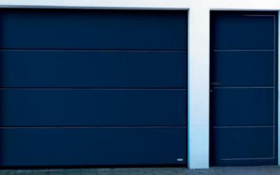 Garageport med dörr
