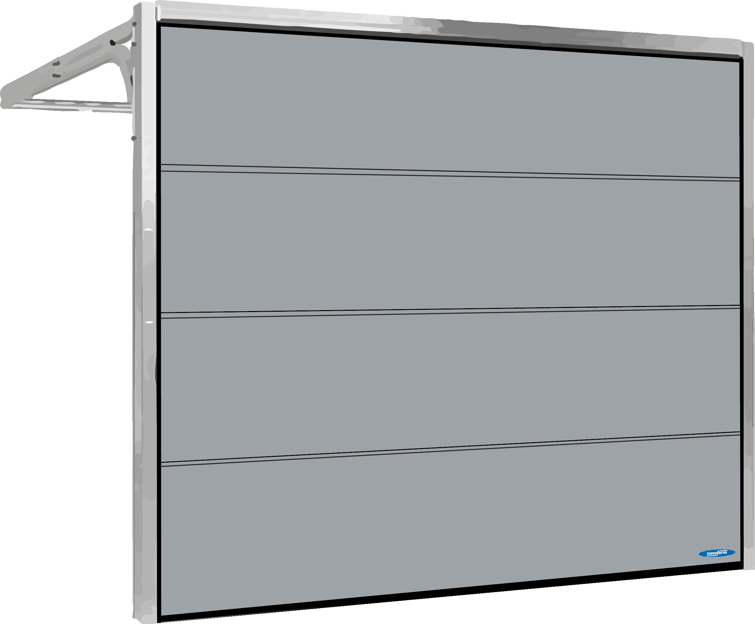 Garageport grå