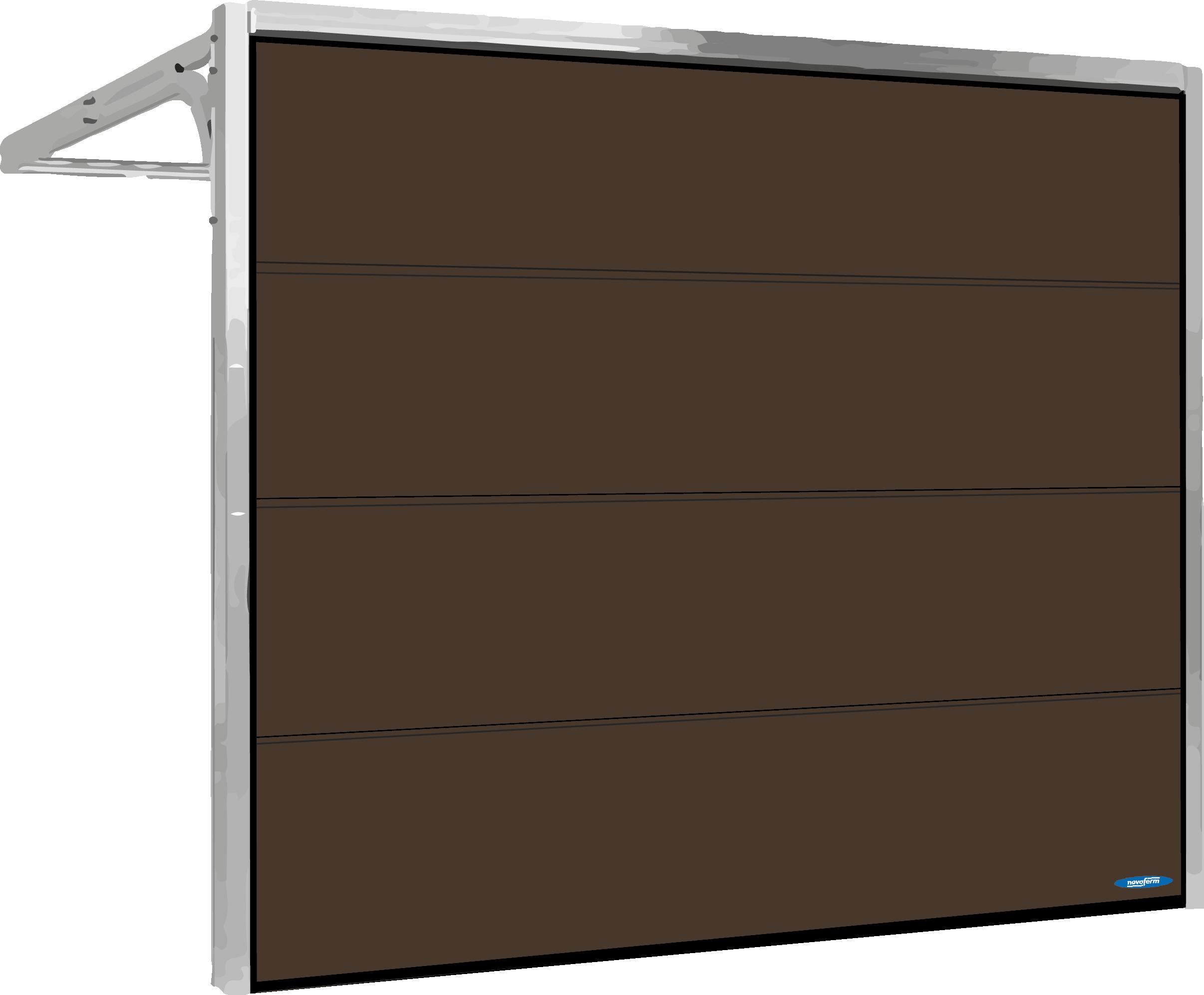 Brun garageport